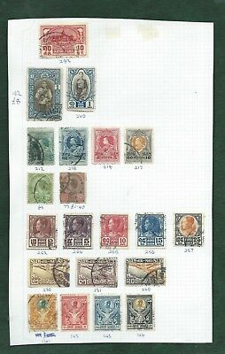 Thailand Siam nice lot of MH and used old stamps on album pages (h)