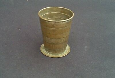 Antique Silver Plated Articulated Campaign Beaker/Stirrup Cup circa. 1886