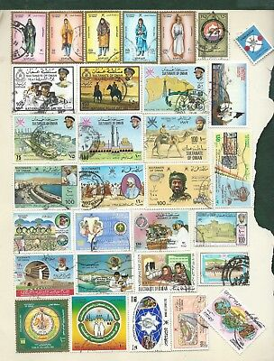 Sultanate of Oman 31 more modern used stamps on album page