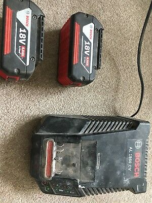 bosch battery charger 18v Plus 2x Batteries