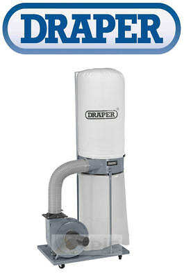 Draper 153L Dust Extractor Vacuum With Hose Workshop Wood Chip Collector 80946