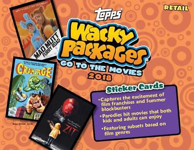 2018 Topps Wacky Packages Go To The Movies Sticker Cards Retail Blaster Box CASE