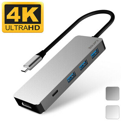 EQUIPD USB C HUB Type-C Adapter 4K HDMI USB 3.0 Charging for Macbook Pro & More