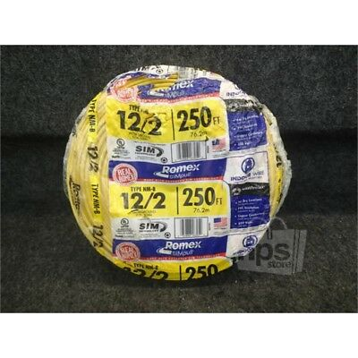 Southwire Romex 28828255 SIMpull Romex, 250ft Cable, 12/2, SOL, Yellow