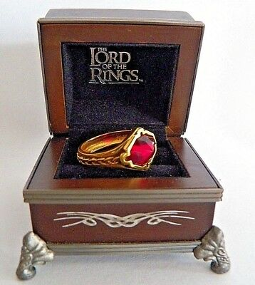 INCREDIBLE~NLP TNC INC~SYN RUBY~SOLID 10K YELLOW GOLD RING~SZ 14~ORIG BOX~9.47g