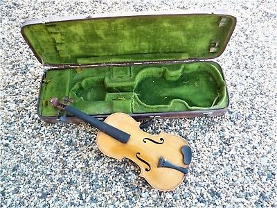 Violon Ancien Old Violin Viola Cello  2 Etiquette  Paul Beuscher + Signe Au Fer