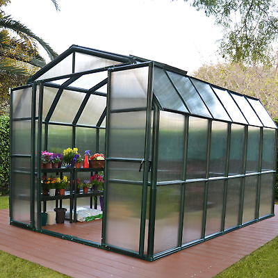 Rion Greenhouses Grand Gardener 2 Twin Wall 8 Ft. W x 8 Ft. D Greenhouse