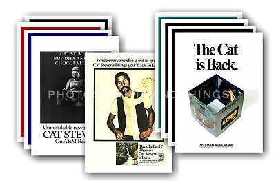 CAT STEVENS - 10 promotional posters - collectable postcard set # 2