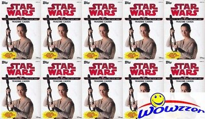 (10) 2017 Topps Star Wards Journey to The Last Jedi EXCLUSIVE Sealed Hanger Box