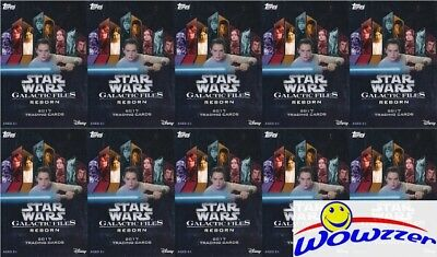 (10) 2017 Topps Star Wars Galactic Files EXCLUSIVE Factory Sealed Hanger Box