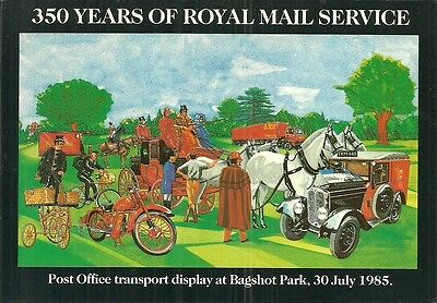 350 Years Of Royal Mail Service Transport Display, Bagshot Park 30/07/1985.
