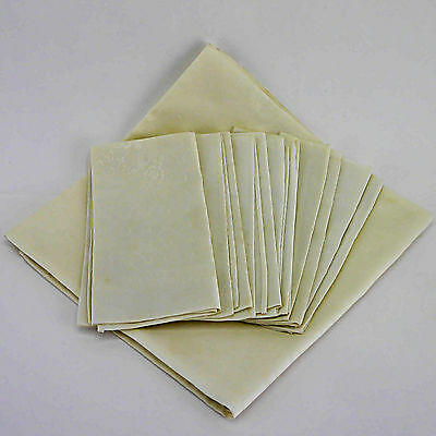 Vintage Self Patterned Cream Non-Iron Tablecloth & Six Napkins - FREEPOST