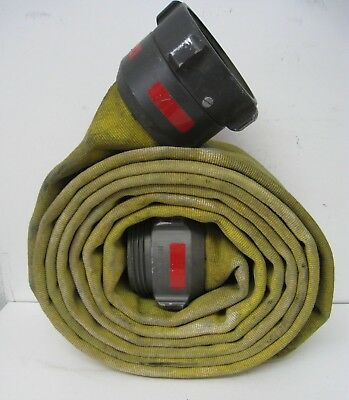 Action USA 4 Fire Hose with Male / Female Couplings Yellow Wide Firefighter Hose