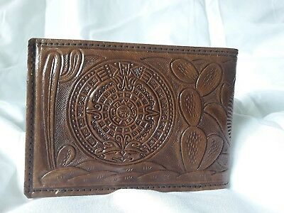 Vintage Mexican Hand Tooled Leather Men's Wallet