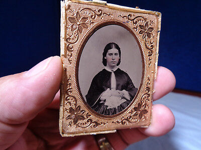 Antique Ambrotype Photo  **young Lady**
