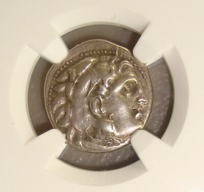 336-323 BC Alexander III the Great Ancient Greek Silver Drachm NGC XF 4/5 5/5