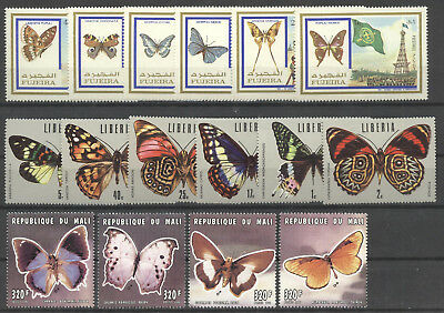 Schmetterlinge, Butterflies - LOT ** MNH