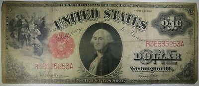 1917 $1 One Dollar United States Red Seal Large Note