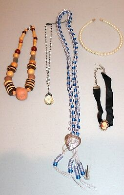 Lot of Vintage to New Beaded Necklaces--Estate Jewelry--Nice!