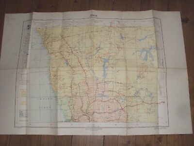 GEOGRAPHICAL MAP OF PERTH WESTERN AUSTRALIA - LARGE FOLD OUT  1st EDITION 1952