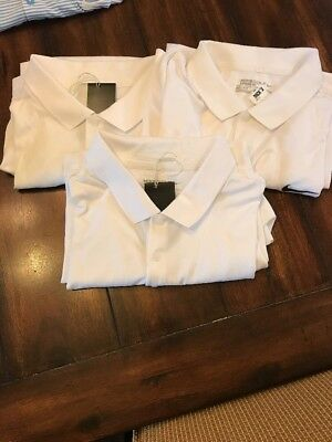 Lot of 3~NWT Nike Victory Solid Mens Golf Polo Shirt White 749332-100 Large