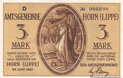3 Mark Aunc  Banknote From Germany/horn 1921!