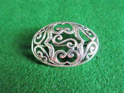 VINTAGE STERLING SILVER SCOTTISH CELTIC DESIGN BROOCH, PIN - 6.5g!