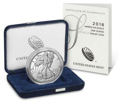 American Eagle 2018 One Ounce Silver Proof Coin w coa
