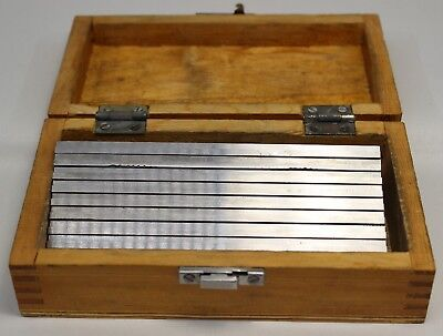 """Eg10-1400, 1/8"""" Thickness 10-Pair Precision Parallel Set, 6"""" Length In Box"""