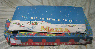 Vintage Mazda Reliance Christmas Outfit Christmas Lights - NO Bulbs w/Orig Box
