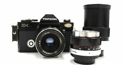 TOPCON IC-1 SLR Camera With Hi TOPCOP 50mm, 35mm &135mm lenses - C65
