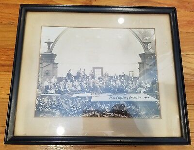 Vintage 1924 Gutekunst Philadelphia Symphony Orchestra Black + White Photo