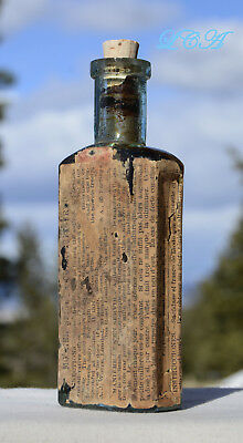 Old A J WHITE Mother Seigel's SHAKER SOCIETY of Believers CURATIVE SYRUP bottle