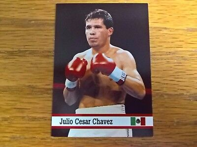 Fax Pax sports trade trading card: Julio Cesar Chavez boxing boxer