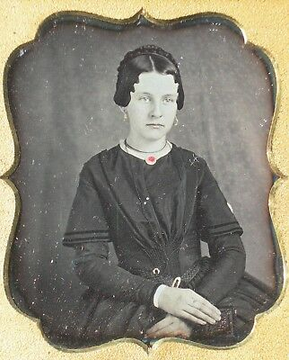 Double Daguerreotype MOP Case w/ Lovely Young Sisters