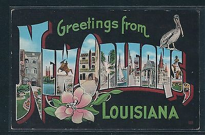 """Large Letter Postcard - Louisiana - """"Greetings From New Orleans"""""""
