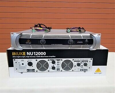Behringer iNUKE NU12000 12000W Power Amplifier W/ (2) 4ft XLR Cables (LOT OF 6)