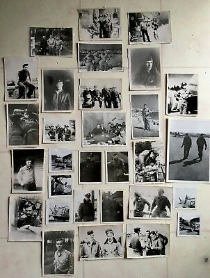 Lot (30) Wwii Photos P-47 Thunderbolt Pilots 368Th Fighter Group Eto