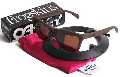 New in Box Oakley Frogskins High Grade Tobacco Sunglasses Amber Dark Bronze Lens