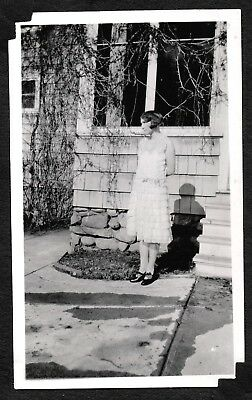 Vintage Photograph 1928 Flapper Girl Fashion Hair Spokane Washington Old Photo