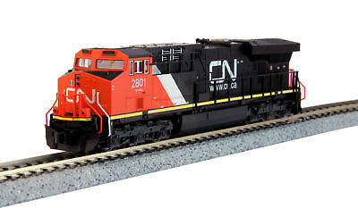 """Kato 17689261 N Canadian National GE ES44AC """"Gevo"""" #2801 with DCC Installed"""
