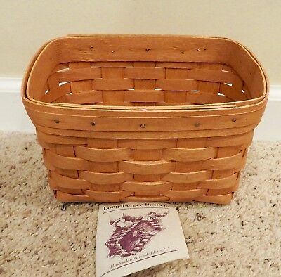 Longaberger 1999 Large Recipe Basket In Classic Stain - Never Used