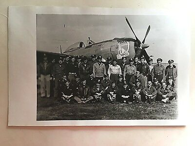 Wwii Photo  368Th Fighter Group Pilots With P-47 Thunderbolt Maxine Nose Art