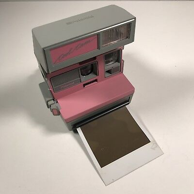 Polaroid Vintage Pink Gray Cool Cam Camera Built In Flash 600 Film Tested