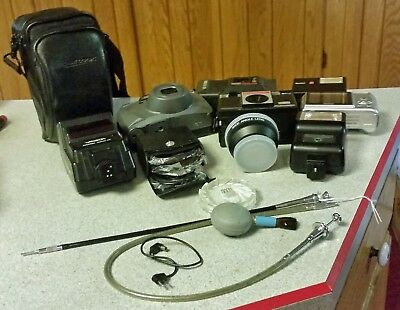 Lot of Old Cameras and Various Accessories Untested ~ for Parts or Not Working
