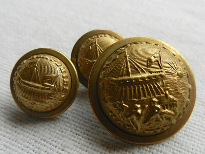 STATE SEAL NEW HAMPSHIRE Lot of 3 Antique Uniform Buttons Civil War and Post