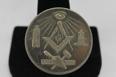 """Vintage Masonic Members token, coin, never used,"""" Made A Mason in"""""""