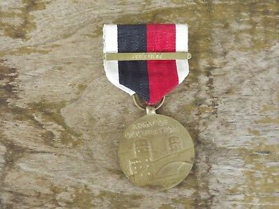 WW2 Army of Occupation Medal with Japan Bar
