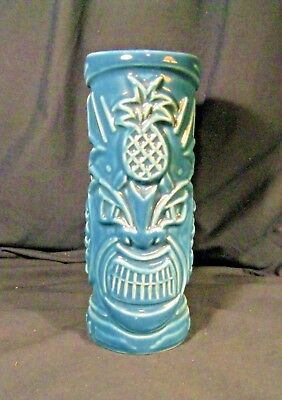 Tommy Bahama Rum Blue Ceramic Glass / Cup Tiki & Pineapples