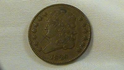 1826 Half Cent High Grade SCRATCHES Please See Pics